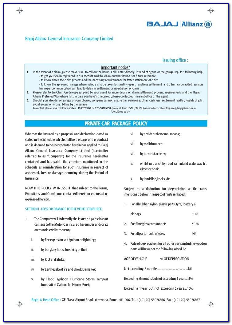 Bajaj Allianz Travel Insurance Brochure 2018