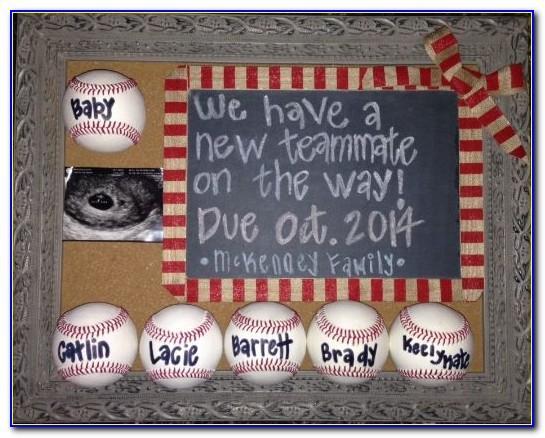 Baseball Pregnancy Announcement Ideas
