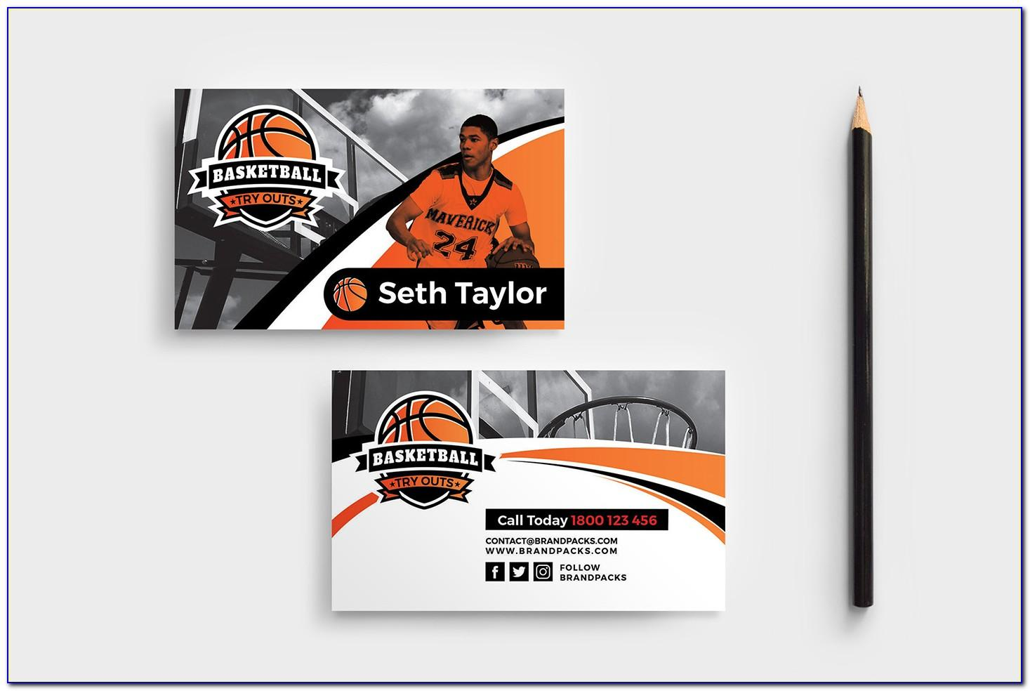 Basketball Trainer Business Cards Templates