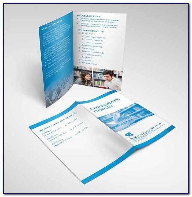 Bi Fold Brochure Mockup Psd Free