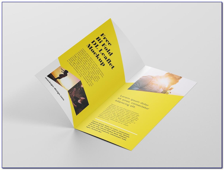Bifold Brochure Mockup Psd Free Download