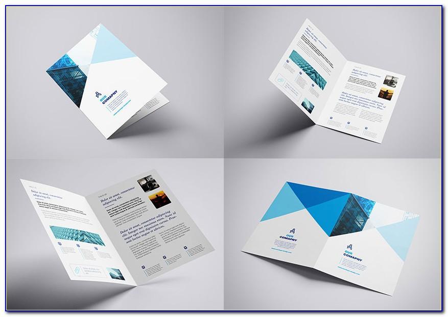Bifold Brochure Mockup Psd