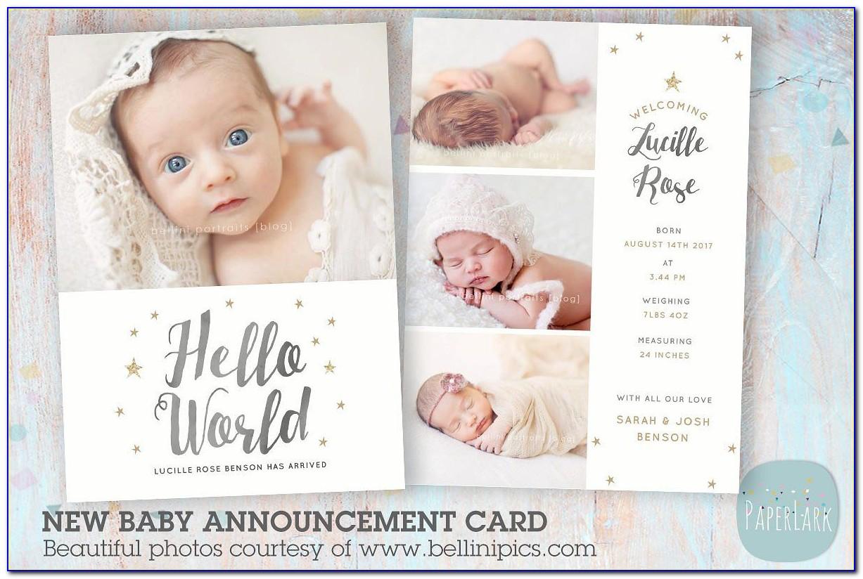 Birth Card Announcement Text