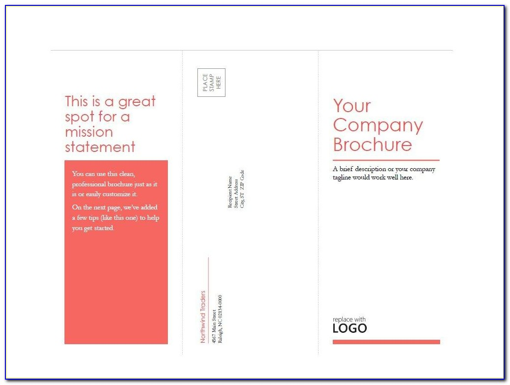 Blank Bi Fold Brochure Templates Free Download Word