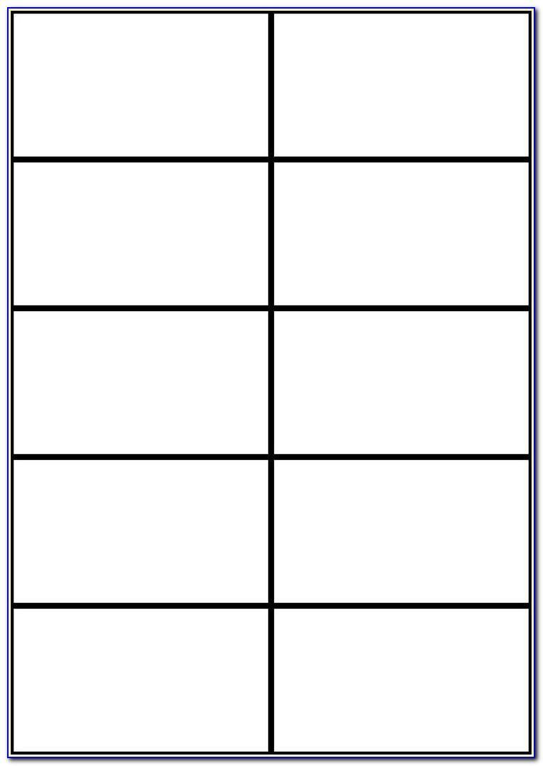 Blank Business Card Template Word 10 Per Sheet