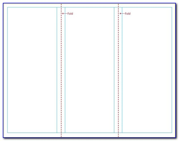 Blank Tri Fold Brochure Template Illustrator
