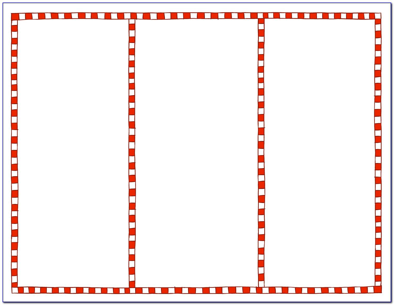 Blank Tri Fold Brochure Template Pdf