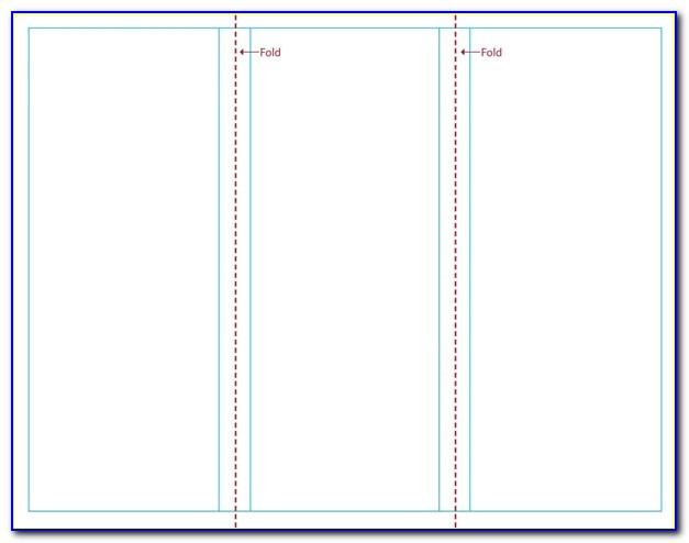Blank Tri Fold Brochure Template Word 2010