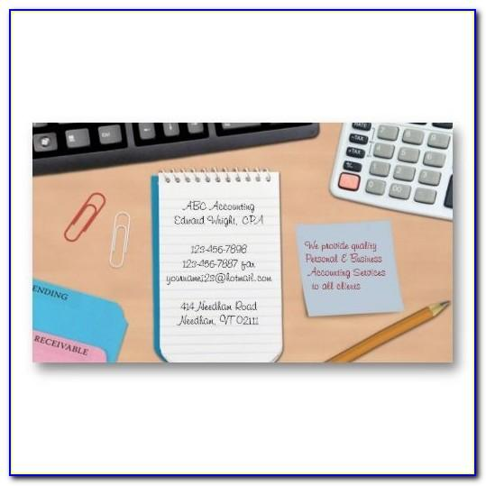 Bookkeeping Business Cards Examples