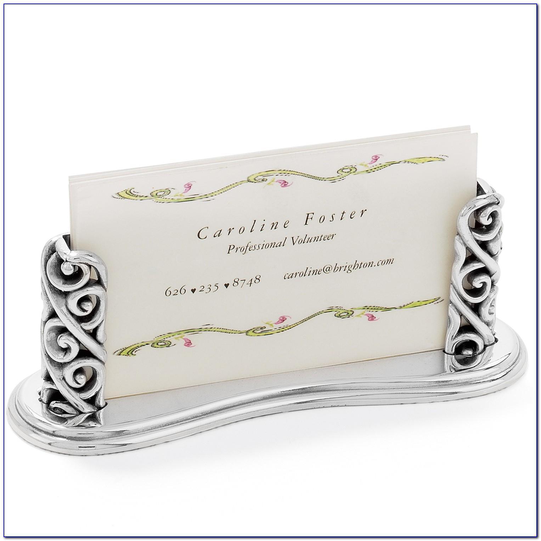 Brighton Business Card Holder For Desk