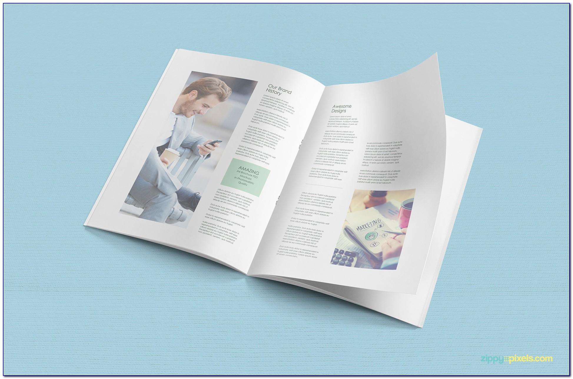 Brochure Mockup 3 Fold