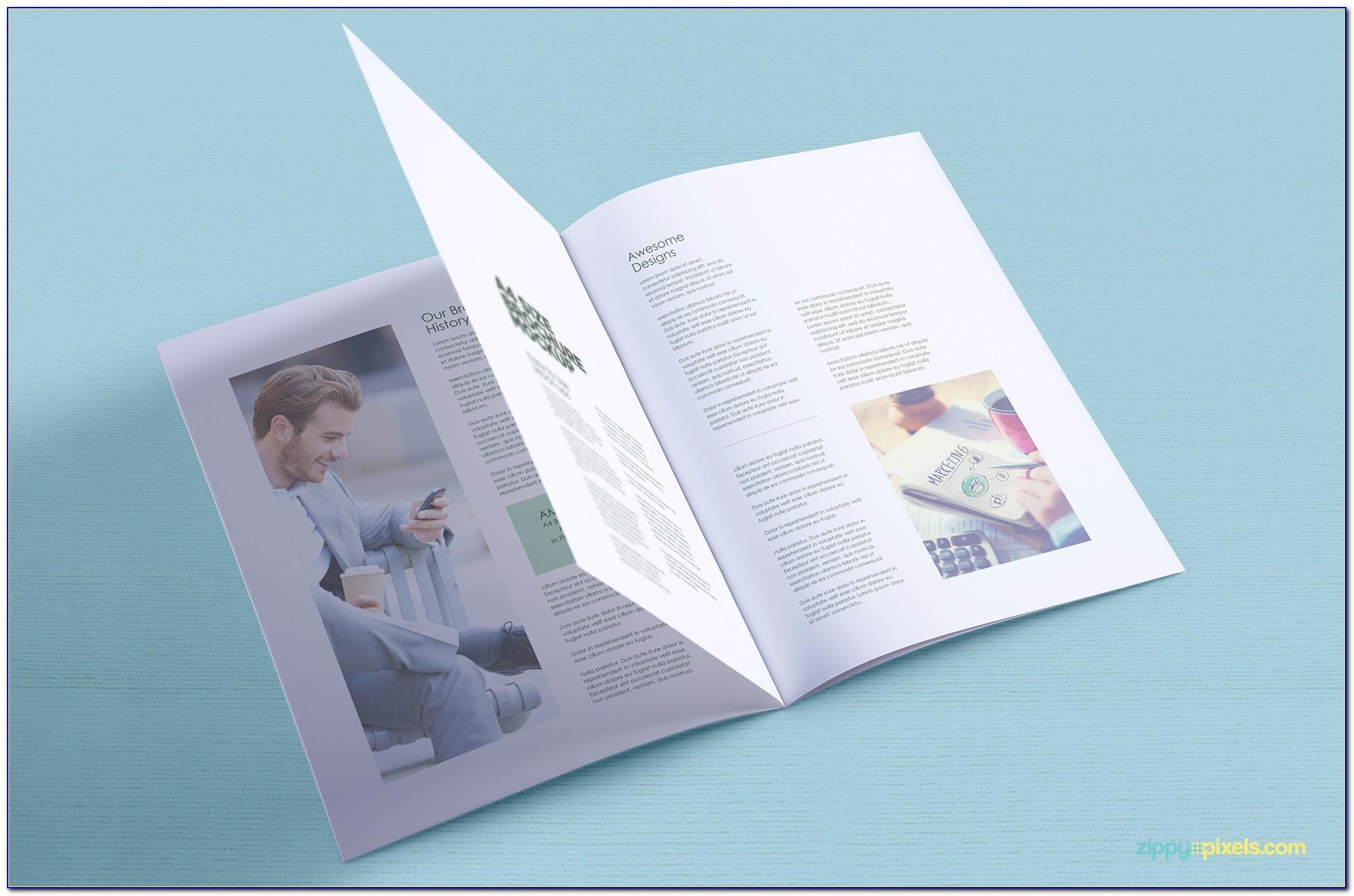 Brochure Mockup Free Psd