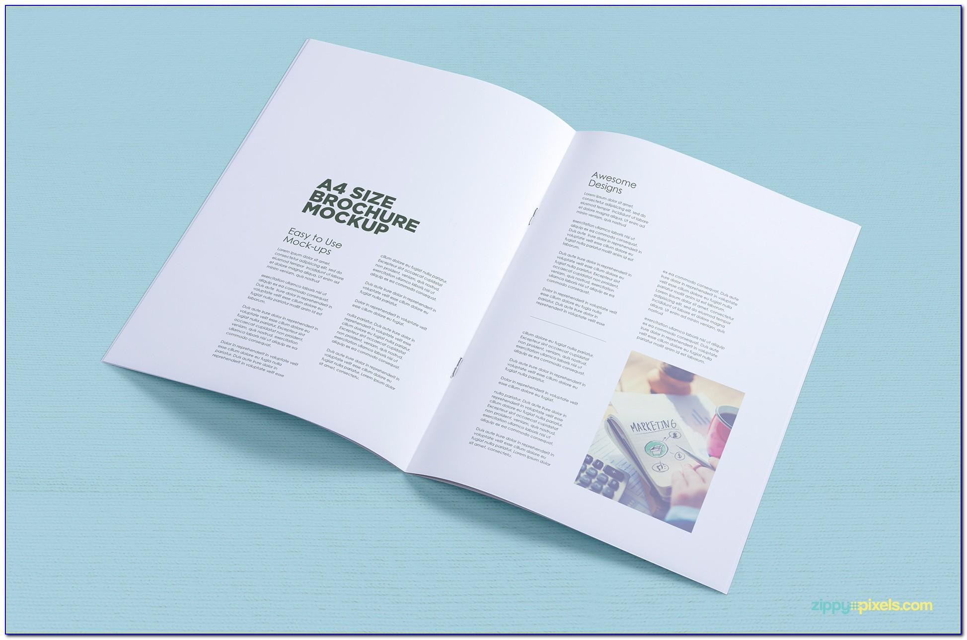 Brochure Mockup Psd Free Download