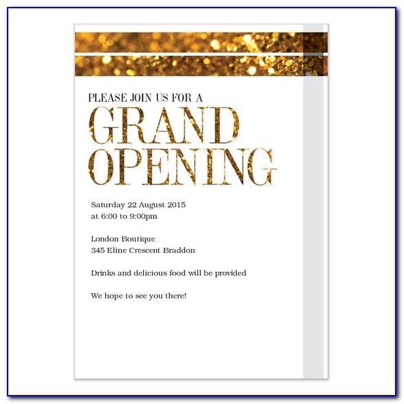 Business Grand Opening Invitation Wording