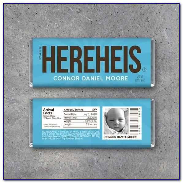 Candy Wrapper Birth Announcements