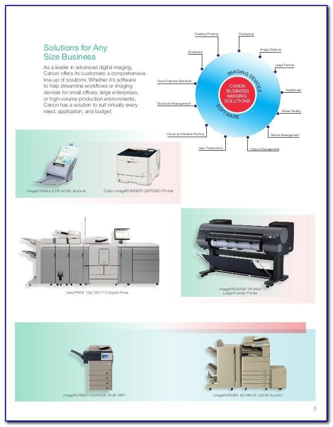 Canon Ir Advance 400if Brochure
