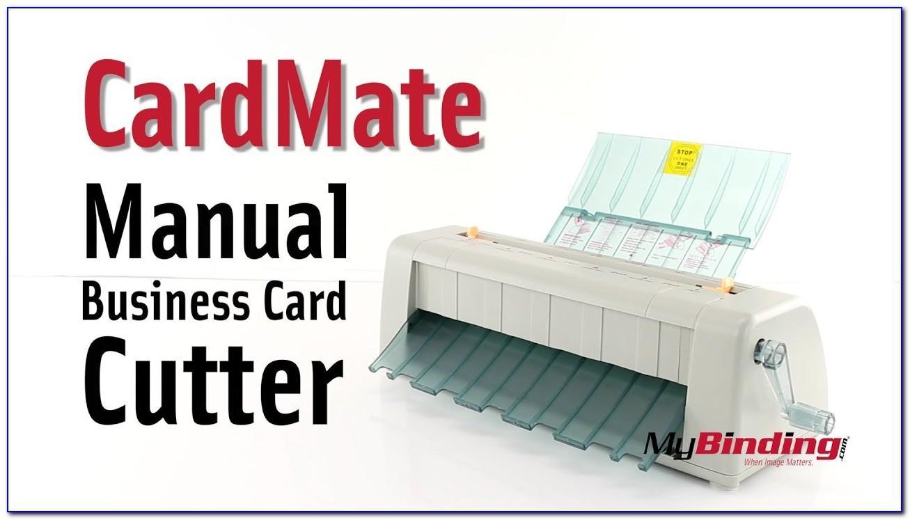 Cardmate Manual Business Card Cutter
