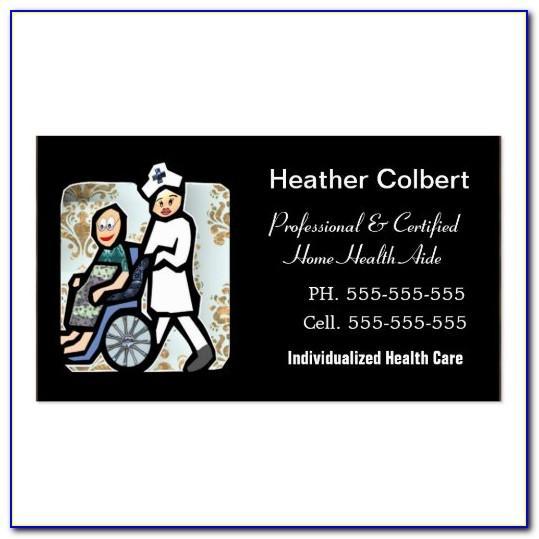 Caregiver Business Card Examples