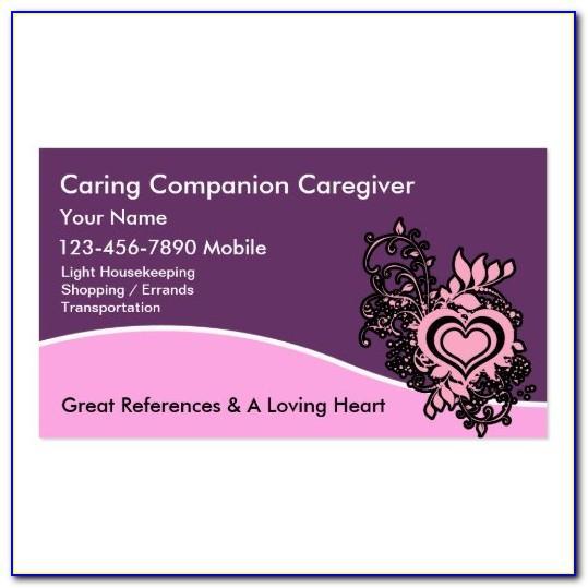 Caregiver Business Card Ideas