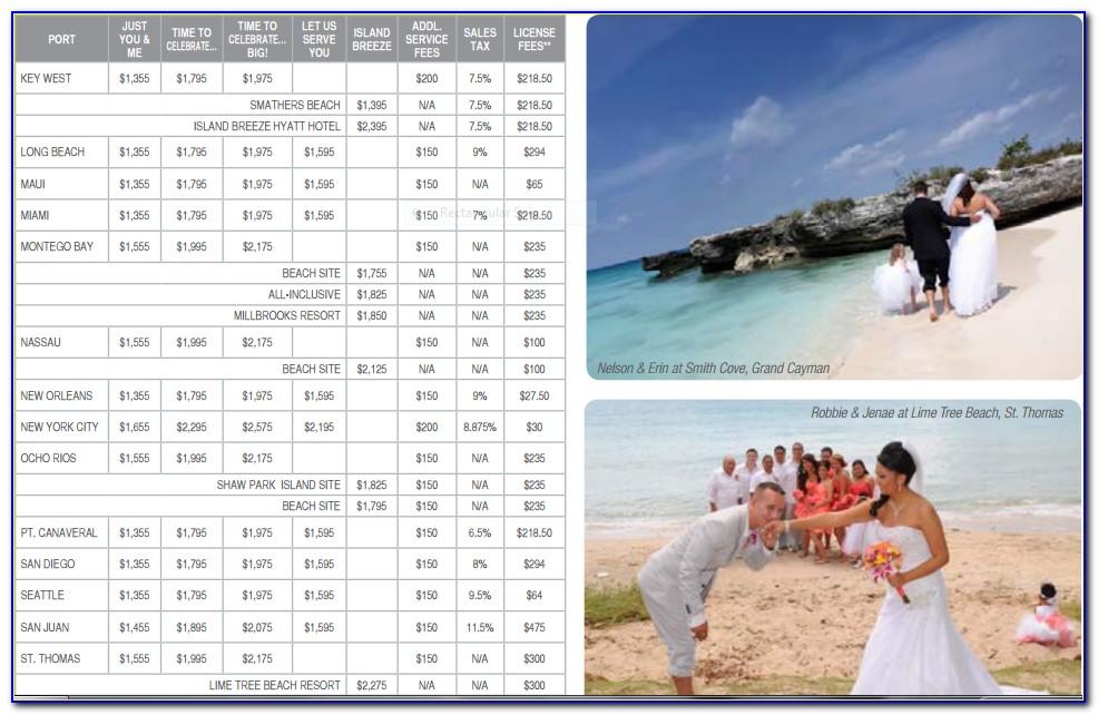 Carnival Cruise Wedding Brochure