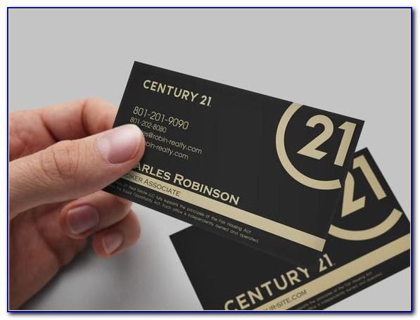 Century 21 Business Cards New Logo