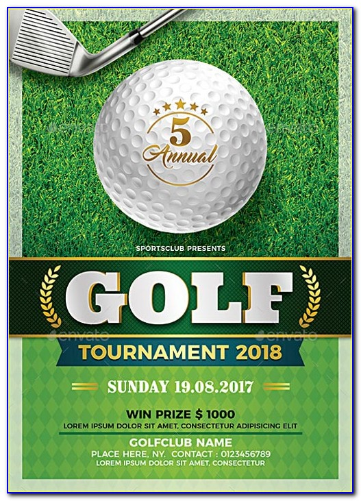Charity Golf Tournament Flyer Template Free