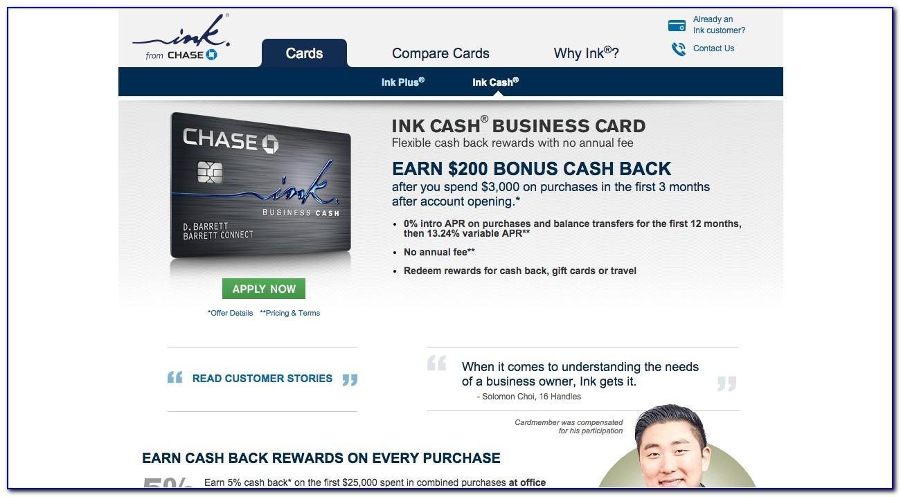 Chase Ink Business Cash Card Foreign Transaction Fee