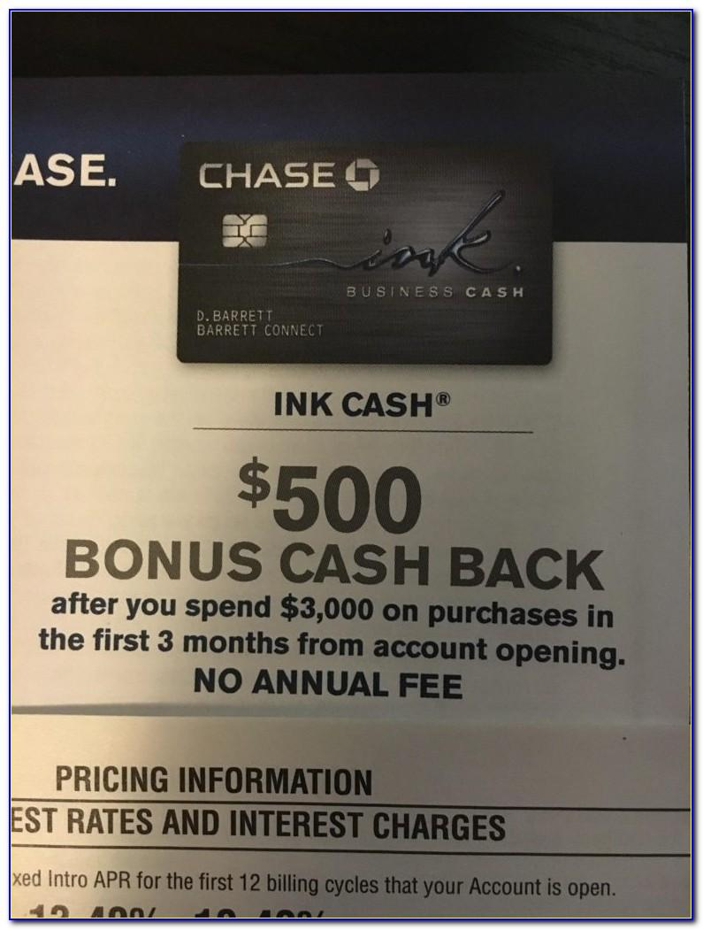 Chase Ink Business Cash Card Referral