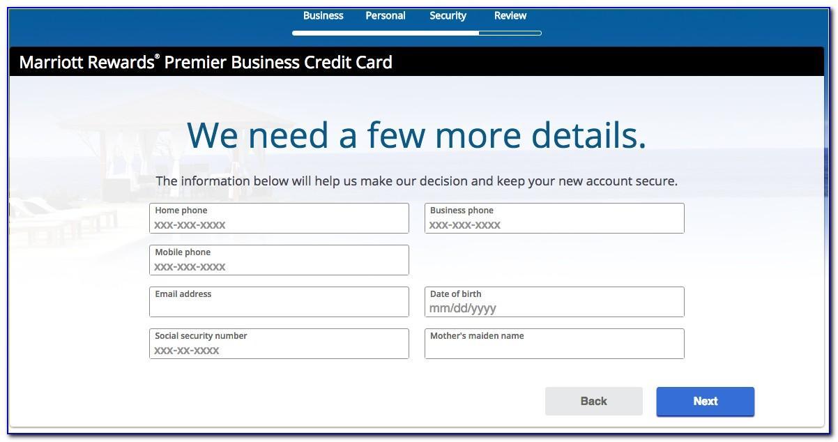 Chase Marriott Rewards Business Card