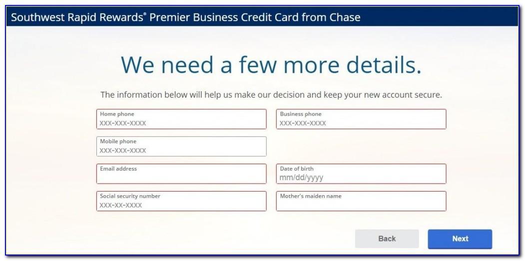 Chase Southwest Rapid Rewards Business Card