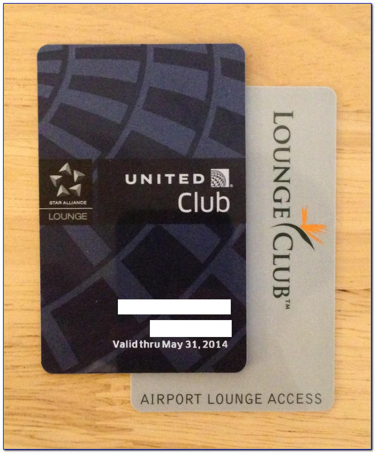 Chase United Club Business Card