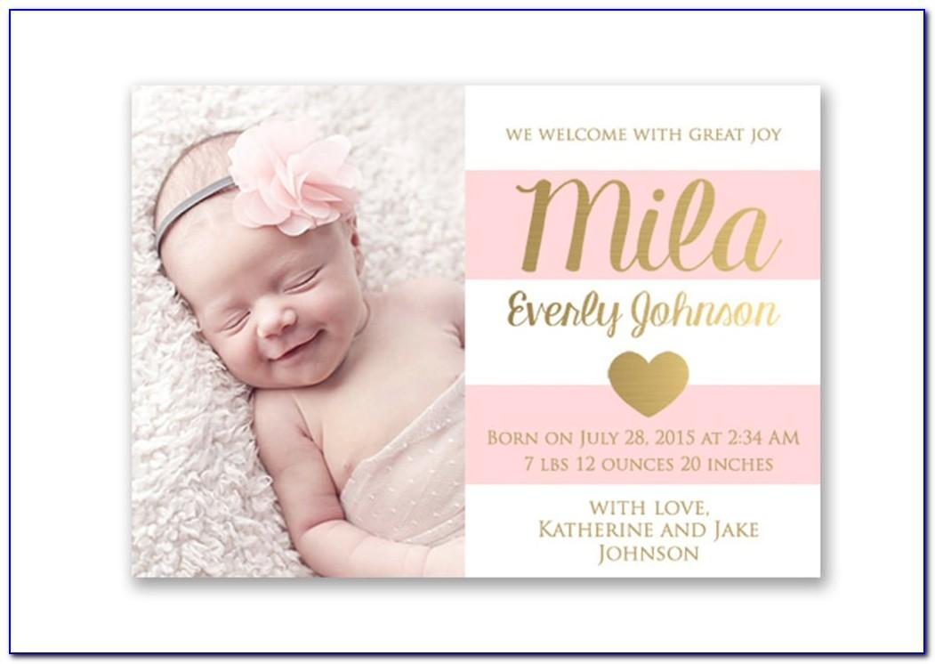 Cheapest Birth Announcement Cards