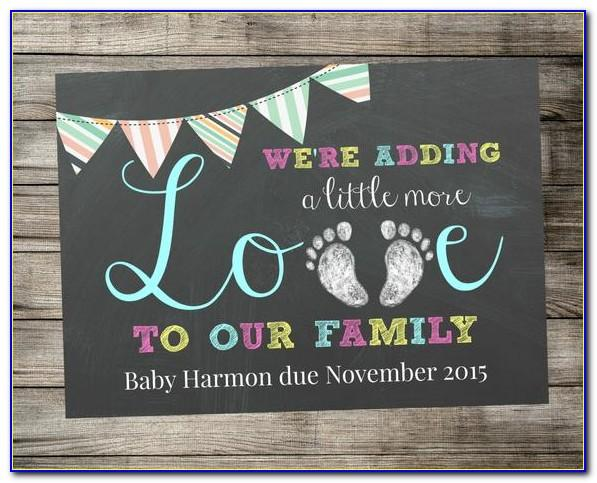 Christmas Pregnancy Announcement Template Free