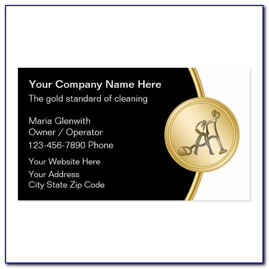 Cleaning Company Business Card Ideas