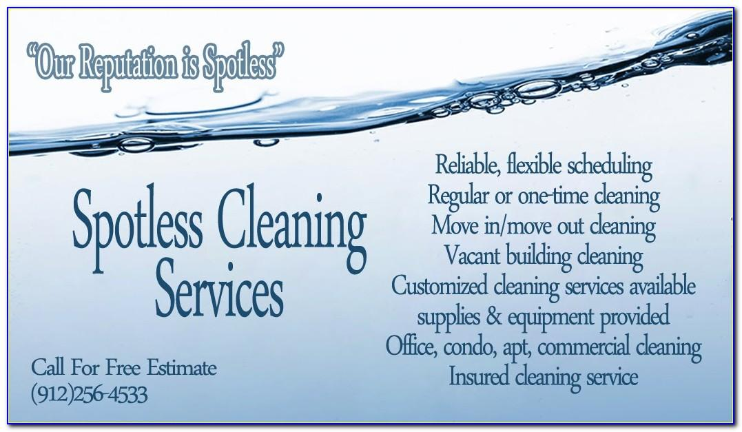 Cleaning Company Business Cards