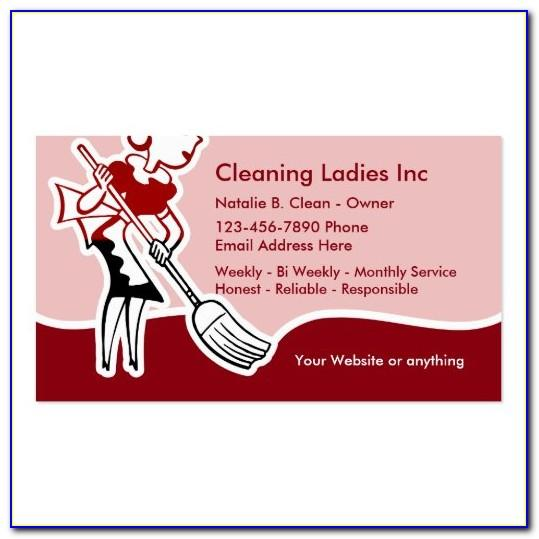 Cleaning Company Message For Business Cards