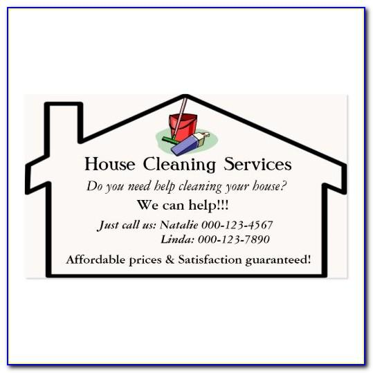 Cleaning Services Business Cards Samples