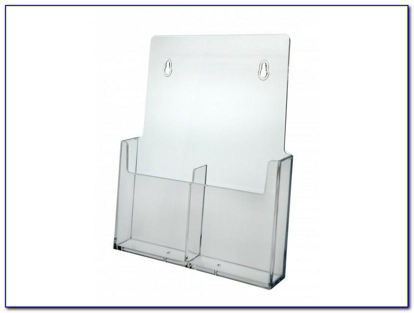 Clear Acrylic Brochure Holder Wall Mount Display 1 Pocket