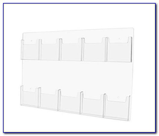 Clear Acrylic Tri Fold Brochure Holders