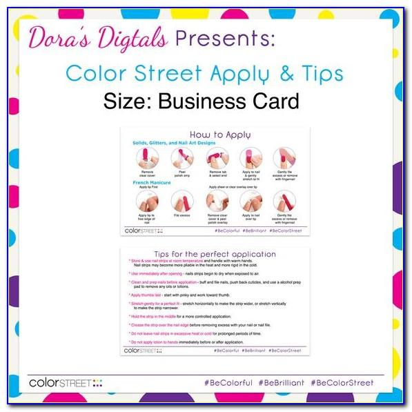 Color Street Nails Business Cards