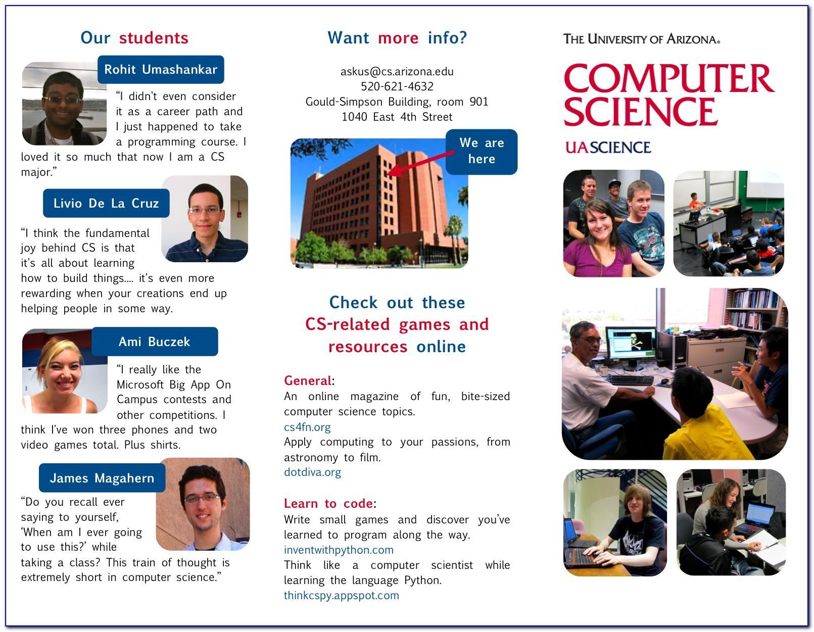 Copy Of Science Brochure Template