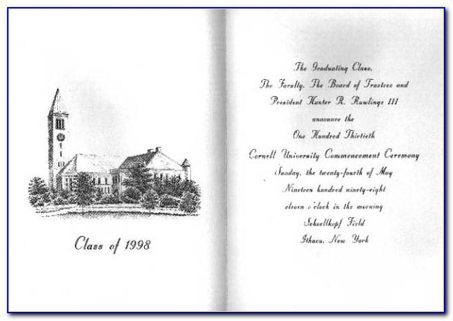 Cornell University Graduation Announcements