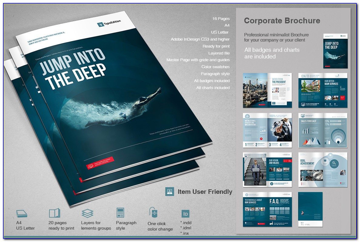 Corporate Brochure Templates Psd Free Download