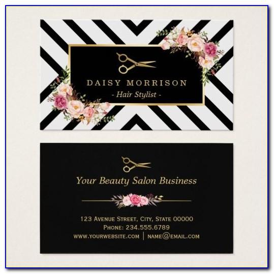 Cosmetologist Business Card Ideas
