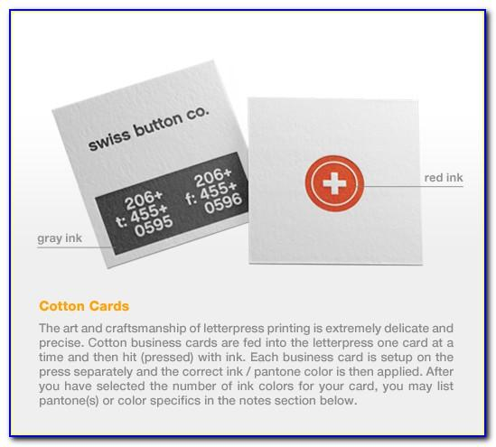 Cotton Business Cards Canada