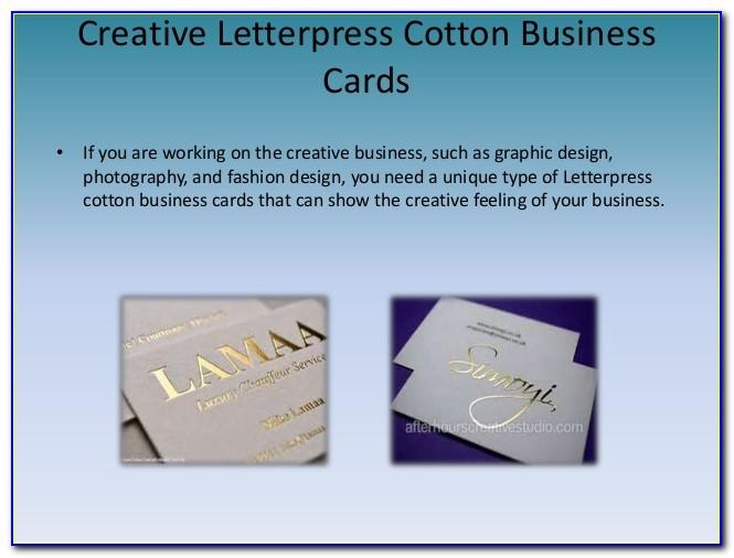 Cotton Business Cards Uk