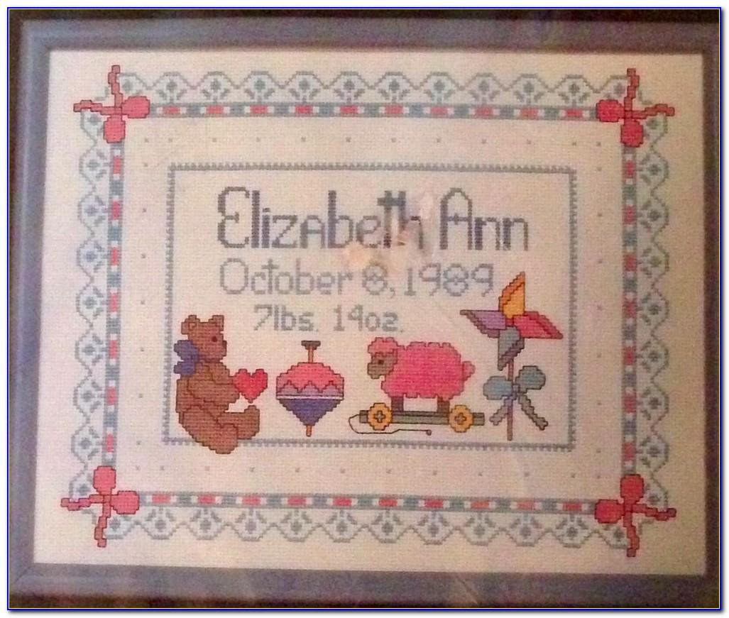 Counted Cross Stitch Baby Announcement Kits