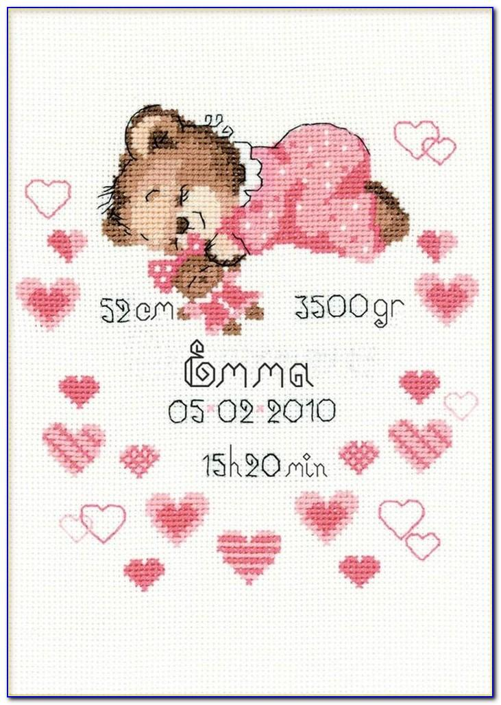 Counted Cross Stitch Baby Announcements
