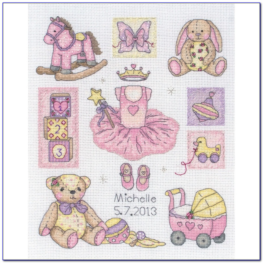 Counted Cross Stitch Baby Sampler Kits