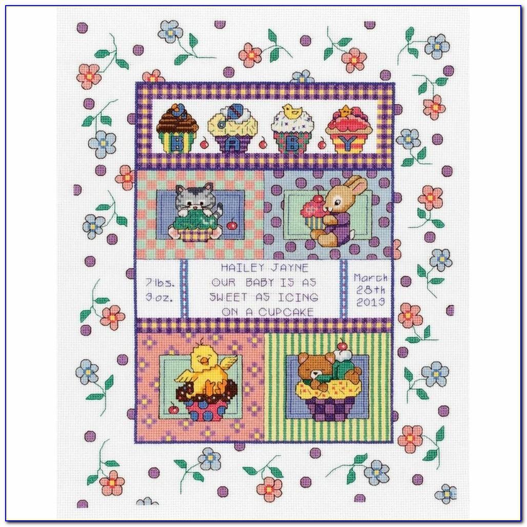 Counted Cross Stitch Birth Record Kits